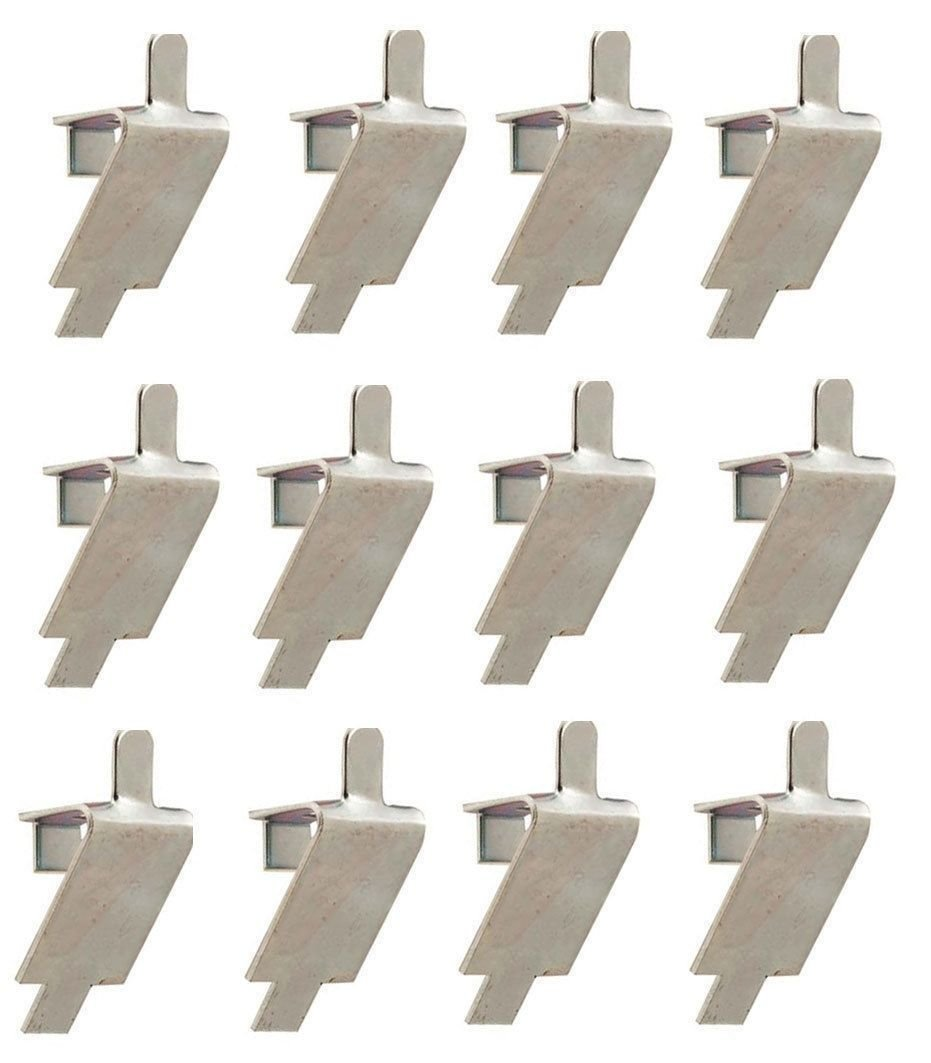 Valley 12 STAINLESS STEEL SHELF SUPPORT, PILASTER CLIP SQUARE SLOT 344-08982-0