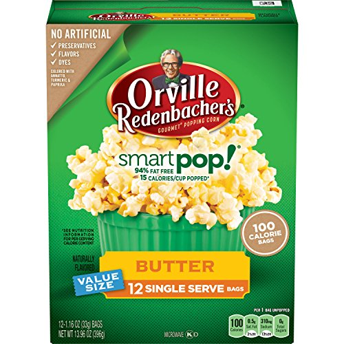 Orville Redenbacher's SmartPop! Butter Popcorn, Single Serve Bag, - Orville Pop Smart