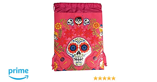 Amazon.com: Disney COCO Drawstring Backpack PIXAR Licensed Sling Tote Gym Bag (Pink Skull Bone): Kitchen & Dining