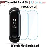 Cellfather Anti-Scratch Ultrathin Screen Guard Protector Film for Xiaomi Mi Band 3 Wristband -(Pack of 2) (Watch not Included)