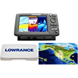 Lowrance Hook-7 Nautic Insight Sonar/GPS Mid/High/Downscan Nautic Insight Fishfinder