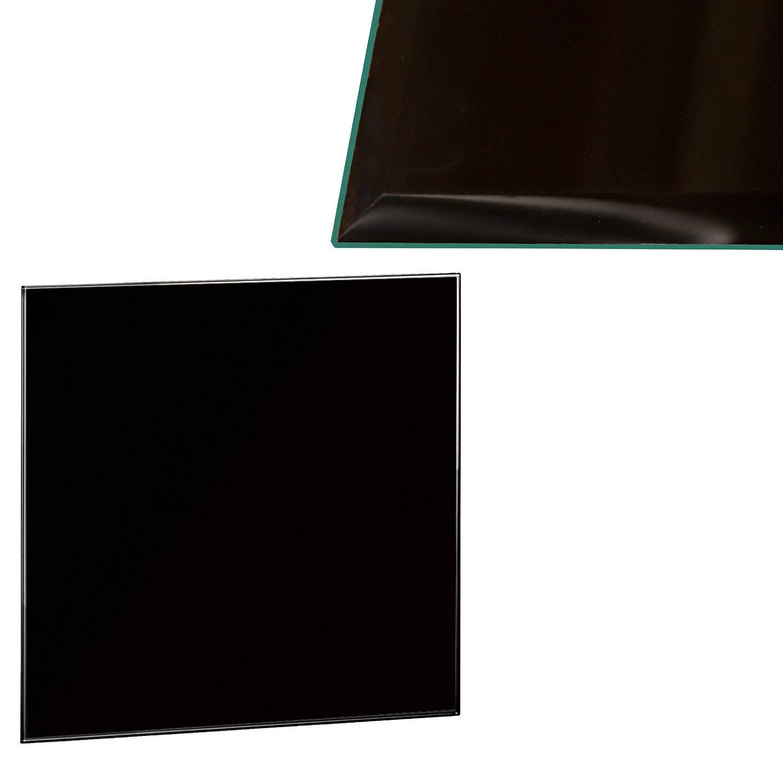 perfekt geeignet als Funkenschutzplatte Verschiedene Gr/ö/ßen 70cm, Schwarz Euro Tische Glasplatte f/ür Kaminofen rund Glasscheibe mit 6mm ESG Sicherheitsglas
