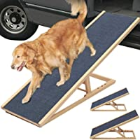 Dog Ramp,Folding Wooden Animal Stairs,For Perfect for Advanced Pets Or Pets with Limited Mobility