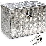 YAHEETECH 24 in Aluminum Truck Trailer Pickup Tool Box Flatbed Storage w/Lock