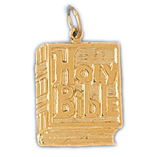 Amazon 14k yellow gold holy bible pendant 22 mm jewelry 14k yellow gold holy bible pendant 22 mm mozeypictures Image collections