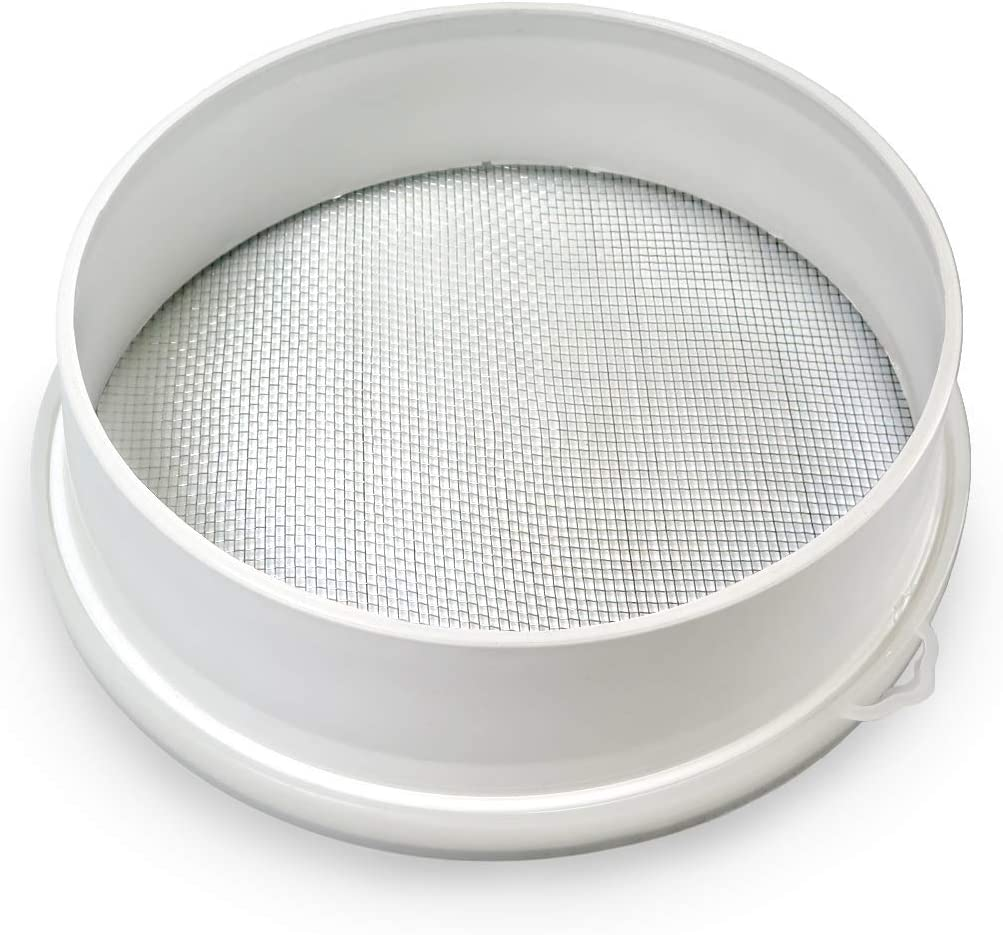 """23cm/9"""" Couscous Sieve Strainer - Plastic Sieve Sifter, Stainless Steel 3mm Mesh, Multicolor"""