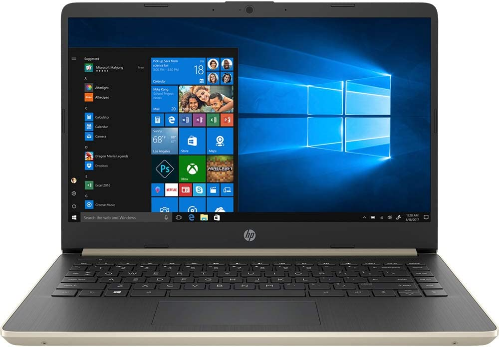 "HP 14"" Touchscreen Laptop 8GB RAM, 128GB SSD, 8th Gen i3 HD Business Notebook, Dual-Core up to 3.90 GHZ Processor, USB Type-C, 1366x768, UHD 620 Graphic, HDMI, Bluetooth, Webcam, Energy Star, Win 10"