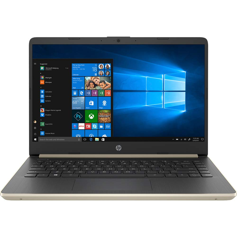 HP 14 Touchscreen Laptop 8GB RAM, 128GB SSD, 8th Gen i3 HD Business Notebook, Dual-Core up to 3.90 GHZ Processor, USB Type-C, 1366×768, UHD 620 Graphic, HDMI, Bluetooth, Webcam, Energy Star, Win 10