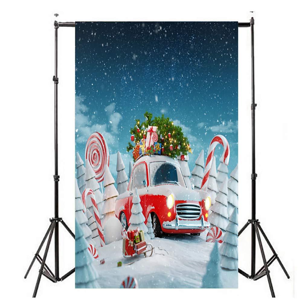 LtrottedJ クリスマスバックドロップ ビニール壁 3x5フィート デジタル背景 写真スタジオ  D B07HBV9HCF