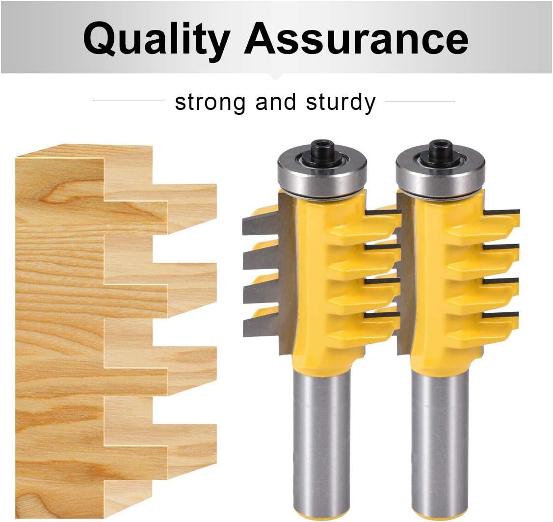 3pcs 45 Degree 1//2 Shank Lock Miter Glue Joint Router Bit Woodwork Tenon Cutter for Hard Wood Composite Wood Board Soft Wood 1//2 Inch Shank Router Bit Woodworking Carbide Router Bit