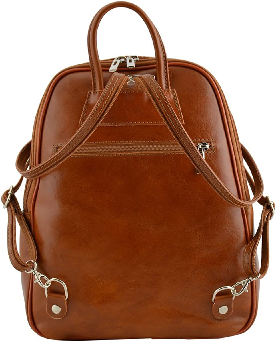 Genuine Leather Backpack Color Cognac