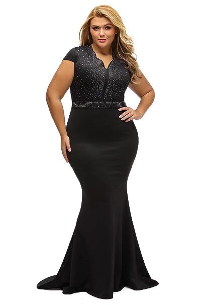 f826f7814c Dear-Queen Women Plus Size Light Blue Top Multicolor Zigzag Maxi Dress  DQ61376B-XL