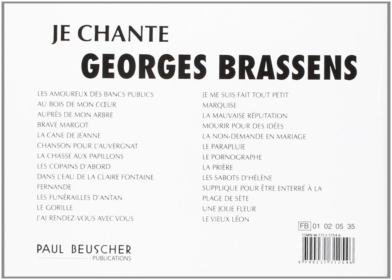 Je Chante Brassens Paroles Et Accords Amazoncouk Brassens