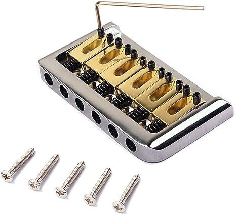 Healifty 6 cuerdas puente de guitarra eléctrica silla de montar ...