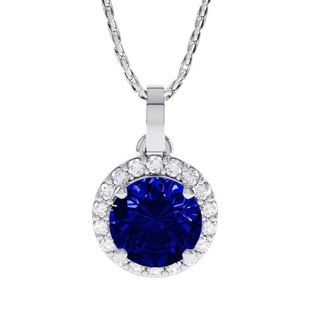 Stardust 1, 35 Karat Saphir und Diamant Damen-Anhänger - Silber - Weißgold Jian London Jian Designs Ltd P66742
