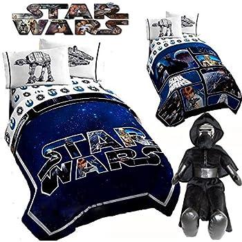 Amazon Com Star Wars Kylo Ren Boys Kids Twin Reversible