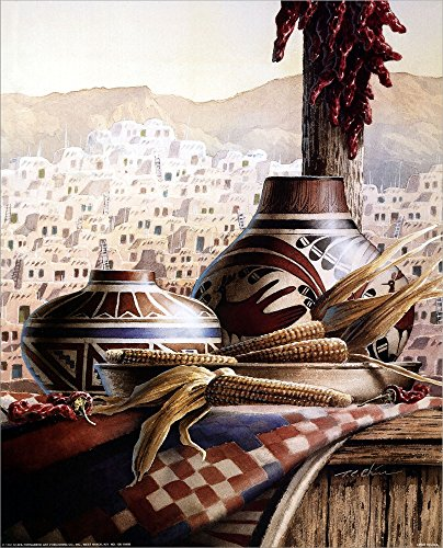 Used, Southwest Pottery by T.C. Chiu Laminated Art Print, for sale  Delivered anywhere in USA