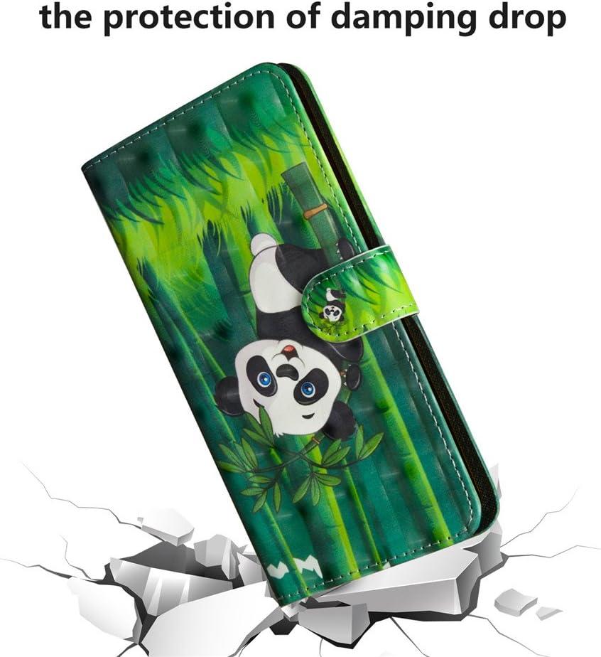 COTDINFOR per Samsung Galaxy A20S Custodia Effetto 3D Verniciato di Alta qualit/à in Pelle PU Vibrazione Copertura di Magnetico Protezione Custodia per Samsung Galaxy A20S White Tiger BX.