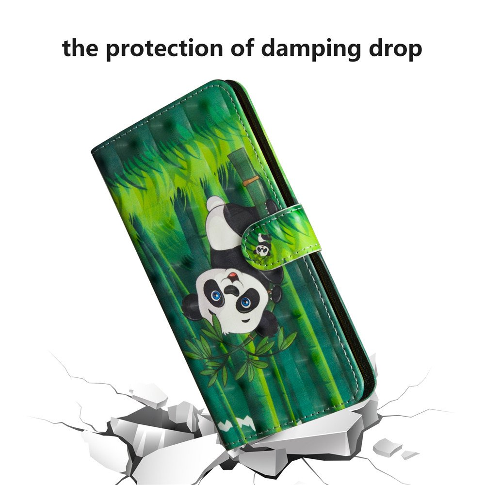 COTDINFOR Funda para LG K30 2019 Funda Protectora Efecto 3D Pintada de Piel Premium PU Shell con Magn/ético Cierre Titular de la Tarjeta Carcasa para LG K30 2019 Smiley Cat Bx.
