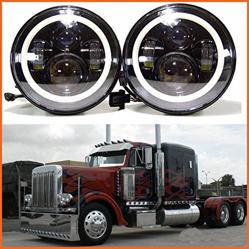 H6024-LED-Replacement-Round-Headlights-7-Inch-75-Watt-Halo-Ring-Amber-Turn-Signal-High-Low-Beam-DRL-Light-Bulb-Combo-for-Trucks-Freightliner-Century-95-Peterbilt-379-EXHD-359
