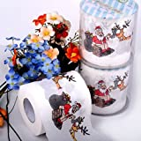 Chenkou Craft 1roll Santa Claus Merry Christmas Toilet Paper Table Living Room Decoration