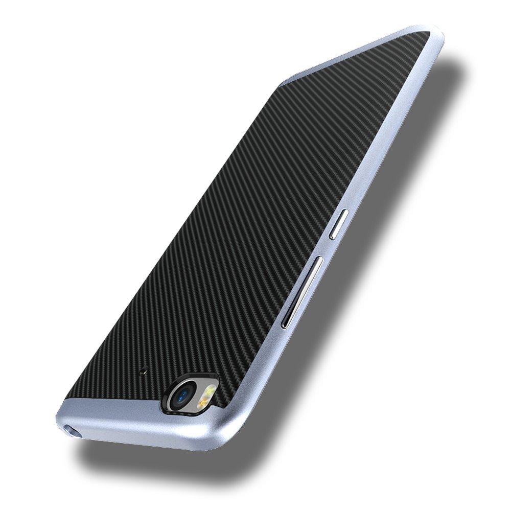Estuyoya Xiaomi Mi 5S Funda, Protección Interna TPU Flexible [Ultra Resistente] Marco Exterior Rígido PC Efecto Metal [Anti Golpes] Carcasa Híbrida ...