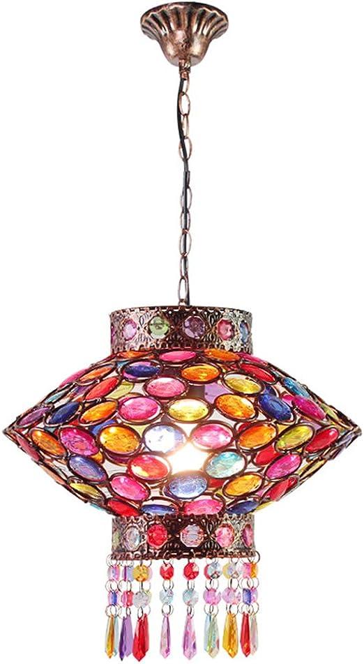 Que Gypsy Colgante de Cristal Colorido Luz Gema de acrílico