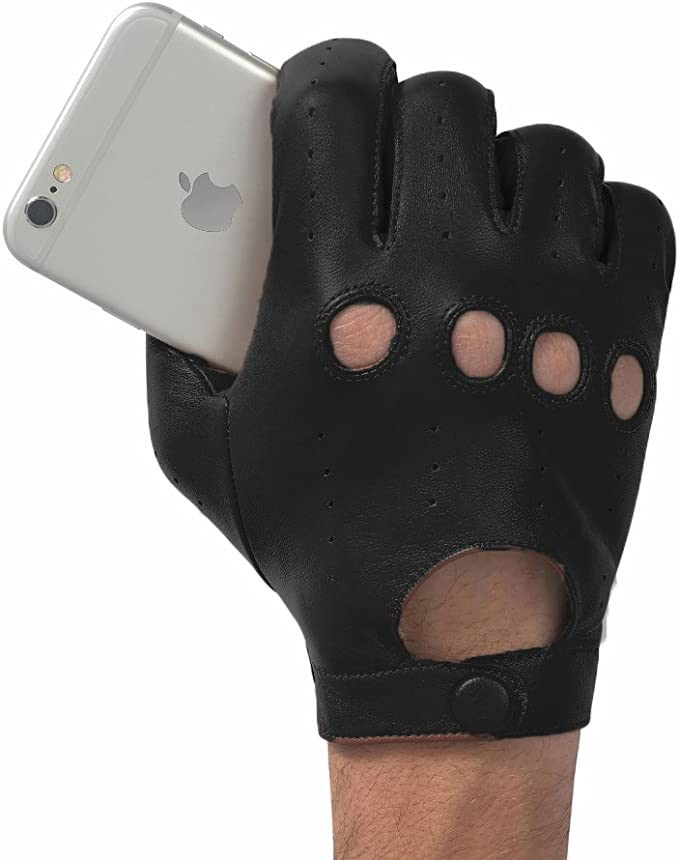Leather Driver Touchscreen Gloves Glove.ly Large Black