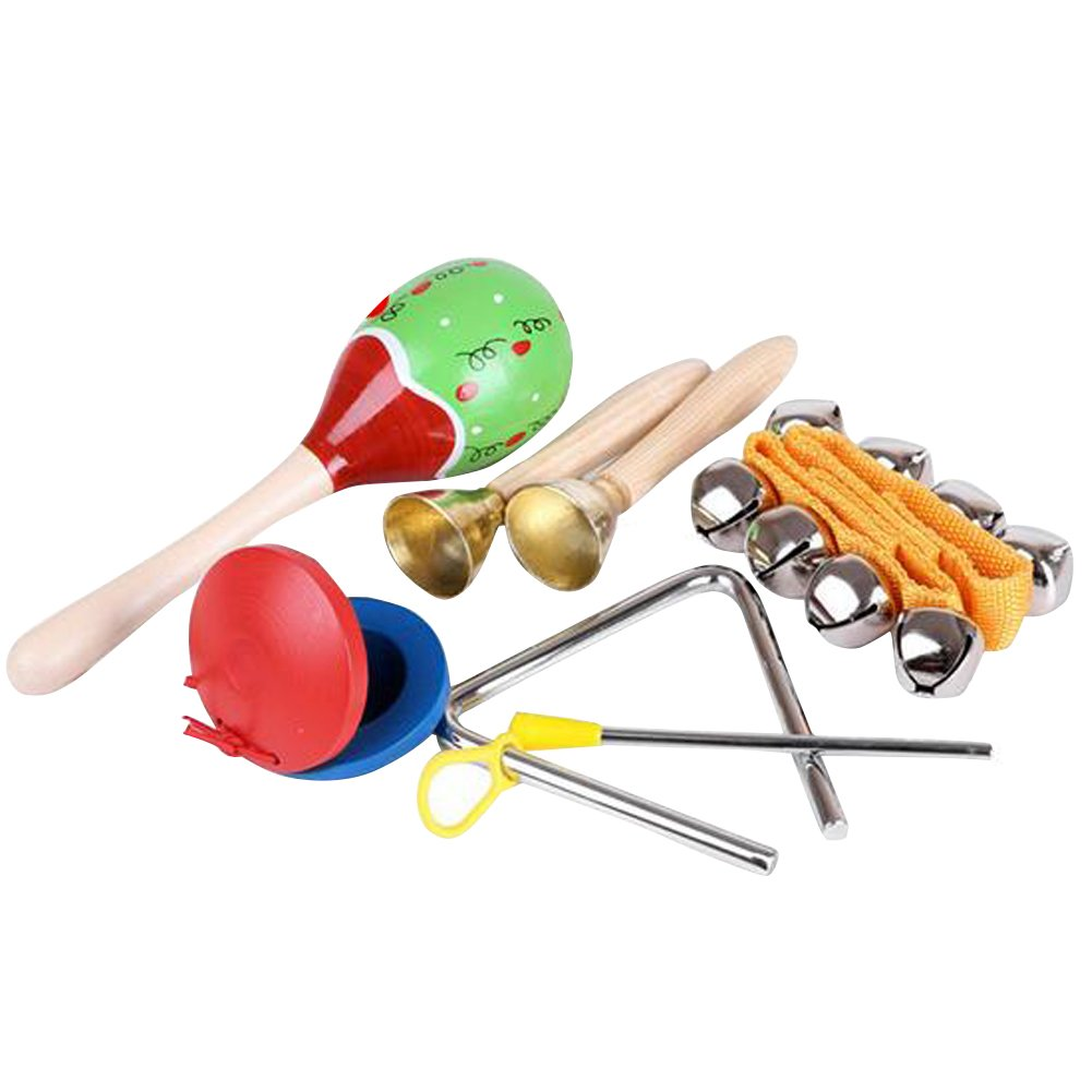 Homieco™ Musical Instruments Kids Toys Set 5 pcs for kids-Percussion & Rhythm Maracas Band Play Musical Toys for Baby Children by Homieco
