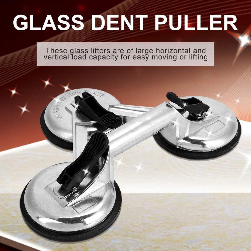 Oumij1 Glasheber Aluminiumlegierung 3 Platten Vakuum Saugnapf Glasheber Abzieher Zum Bewegen Von Glasfliesen Spiegeln Auto