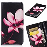 Yiizy Samsung Galaxy Note8 Case, Pink Flowers Design Premium Leather Flip Cover Wallet Bumper Slim Lightweight Protective Shell Pouch with Media Kickstand Card Slots
