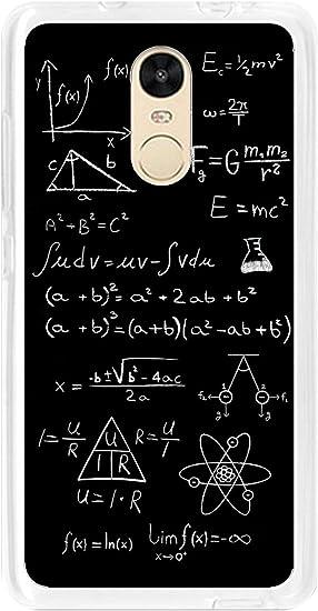 Tumundosmartphone Funda Gel TPU para XIAOMI REDMI Note 4 / Note 4 Pro diseño Formulas Dibujos (No Compatible con Xiaomi Redmi Note 4 versión Global/Note 4X): Amazon.es: Electrónica