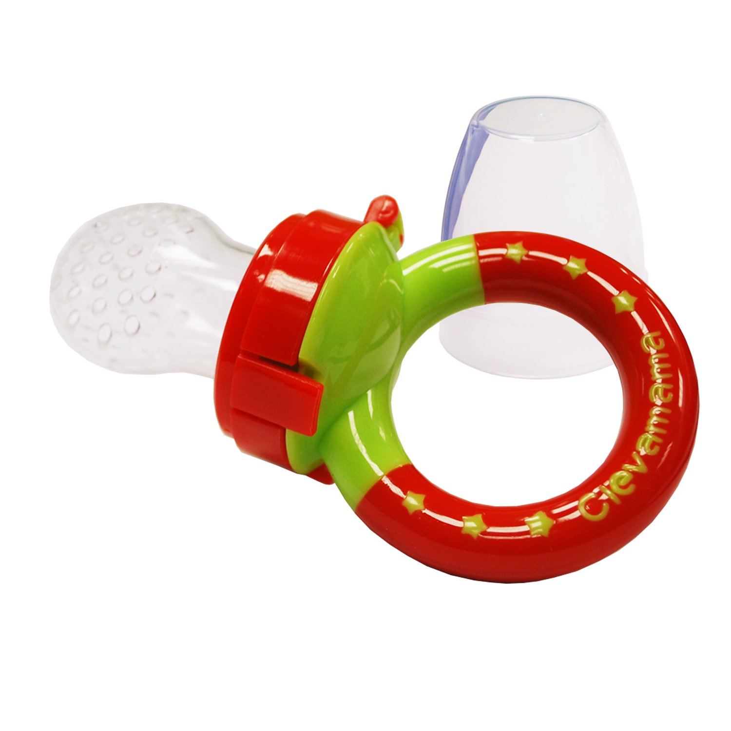 Clevamama Baby Fruit Feeder Clevafeed - Fresh Food Pacifier with Extra Silicone Teat +6 Months 7012