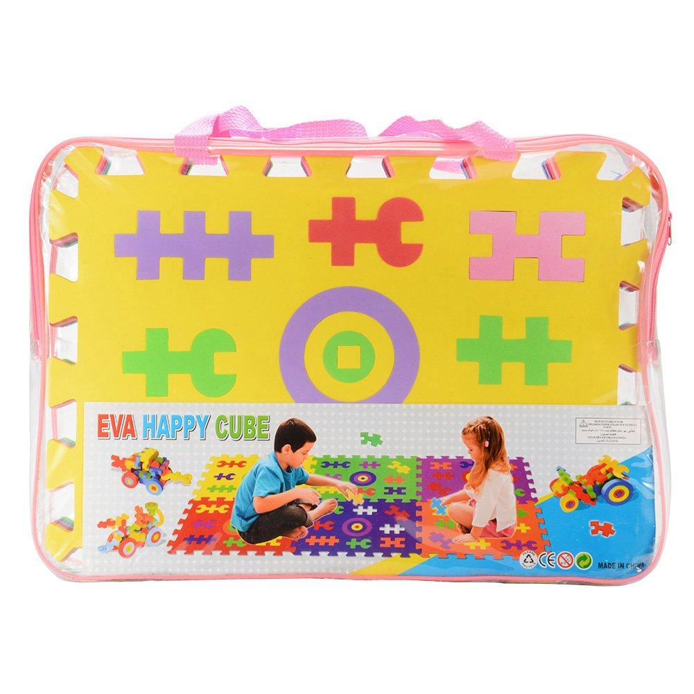 ThinkMax Children EVA Happy Cube Puzzle Play Mat Block Mat Jigsaw Puzzle Mat (6 Pieces a Pack)