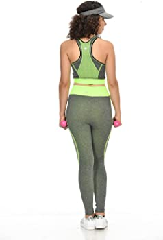 Amazon.com: Diamante de la mujer Power Flex Yoga pantalones ...