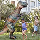 zhenyu 1.8M Dino Grass Water Sprayer Sprinkler Kids Inflatable Pool Toys Outdoor Sports Ginormous T-Rex Dinosaur Yard Sprinkler Splash