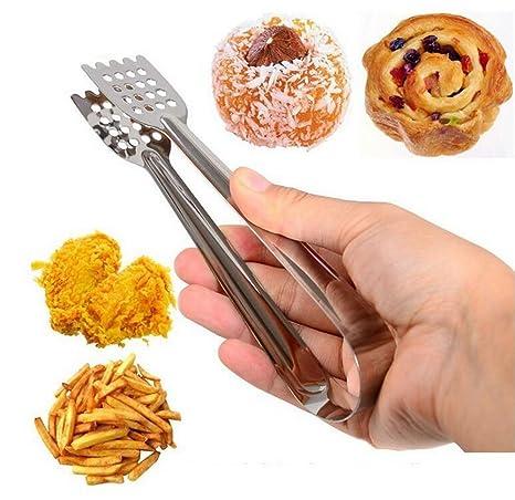 Distinct® Acero inoxidable barbacoa pinzas de cocina Ensalada de Frutas Tong Cocina Comida Pinzas Grill