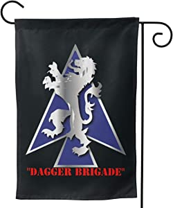 "2nd BDE Combat Tm Dagger Brigade 1st Id V1 Garden Flag Yard Outdoor Decoration Double Sided Flag 12.5""x18""/28""x40"""