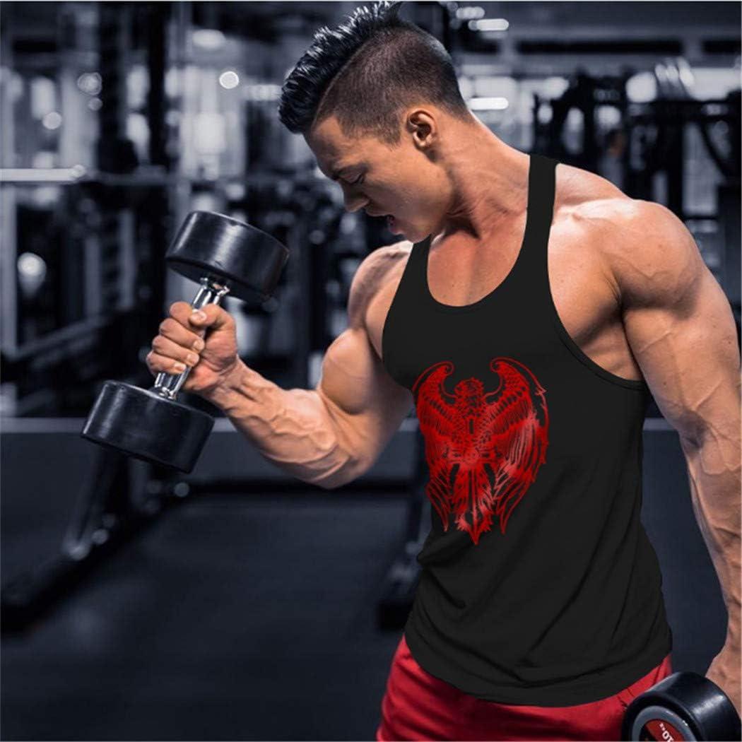 Palestra Uomo Canotta Bodybuilding Canottiera Smanicato Culturismo Moda Canottiera di Cotone Elastico Sport Tank Top