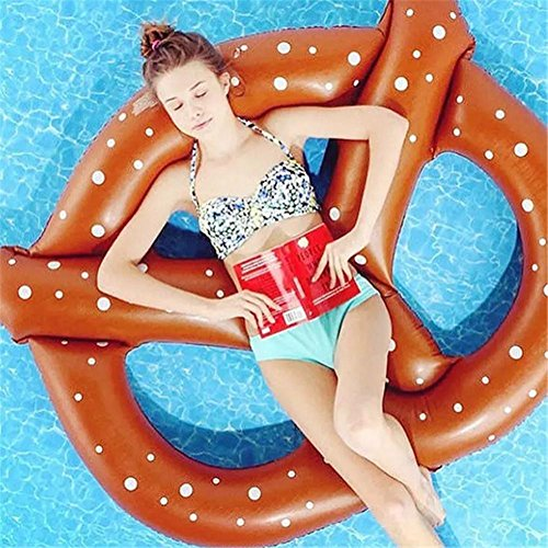 XG Pain anneau de natation gonflable flotteur pain PVC vert flottant rangée
