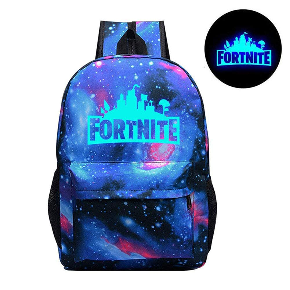 KELYNN Luminous Fortnite Backpack Kids Boys Fortnite School Backpack Battle Royale Bag Laptop Book Satchel Hiking Bag (C)