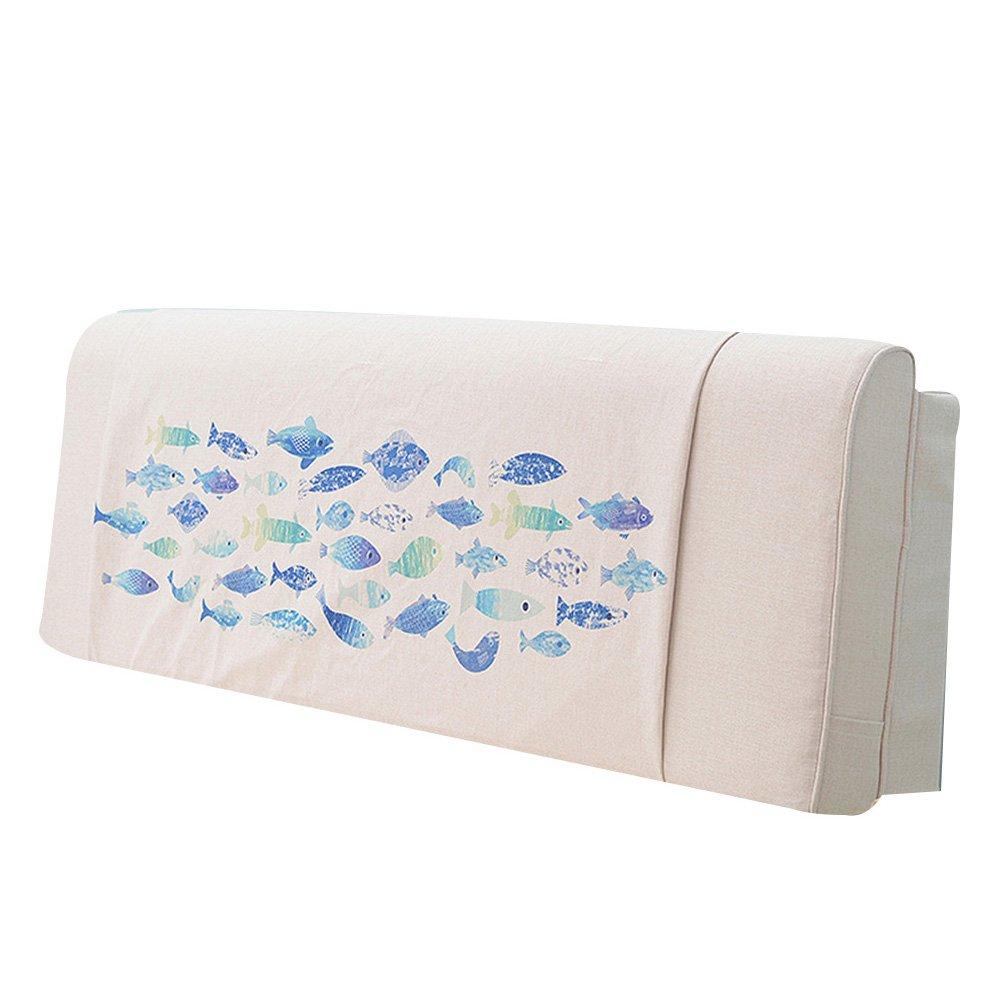 GXY Bedside Kissen Nordic Bett Kapuze Doppel Tatami Softpack Bett Kopfstütze Große Rückenlehne Einfach Modern Kissen (Farbe : 4#, größe : 200x10x58cm)