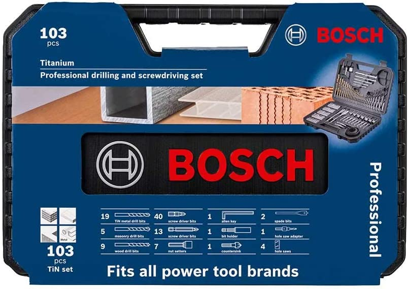 103 Piece Bosch 2608594070 Professional Large Mixed Accessory Set