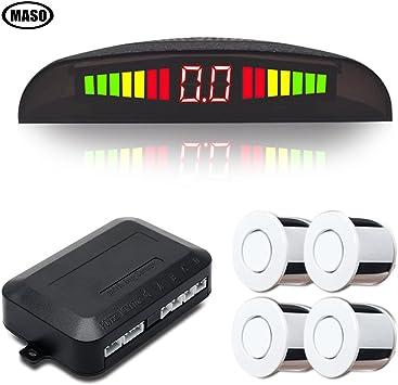 Zumbador 4 Sensores Aparcamiento Sistema De Radar Reverso Coche Parking Alarma