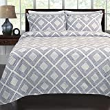 LaMont Home Equinox Coverlet, Full/Queen, Blue