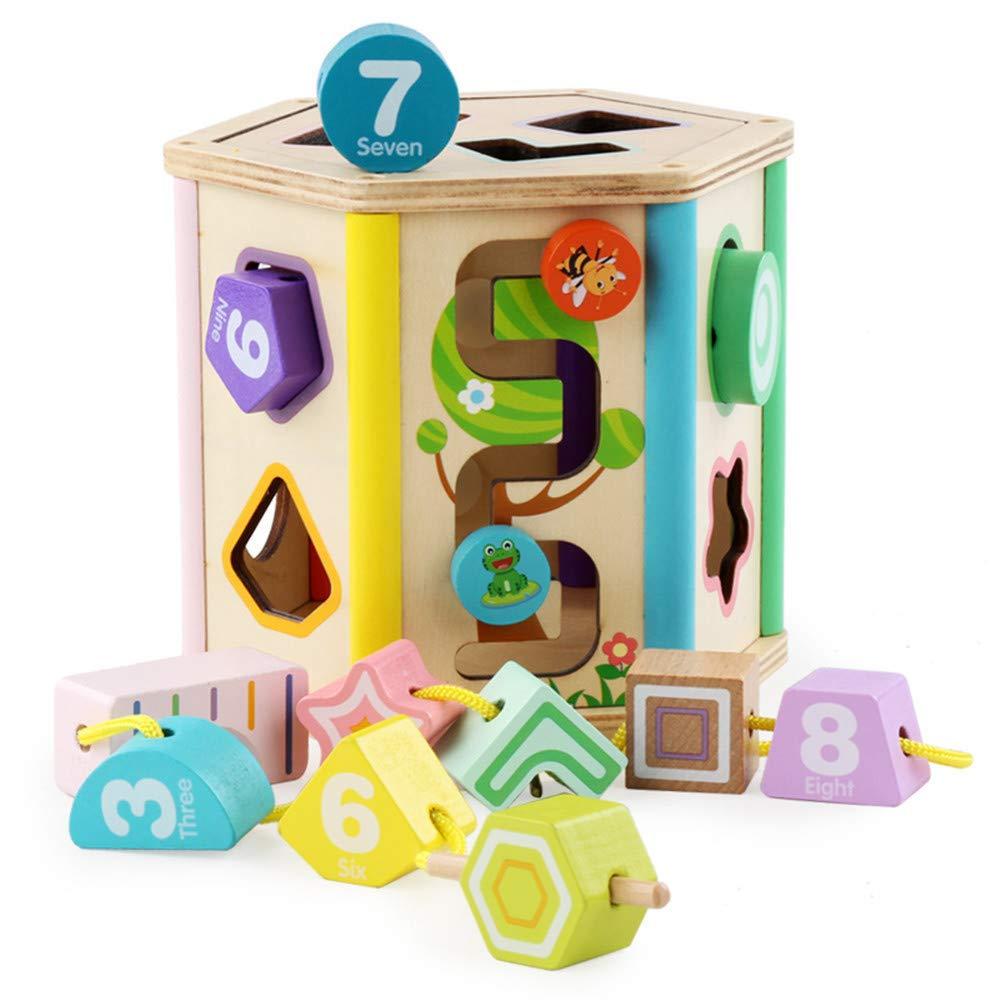 CMrtew  2018 木製パズル 子供用ボックス 教育 子供 ゲーム 学習 ベビー 幾何学模様 ジグソー 15×17cm all 15×17cm B B07JBS6N58