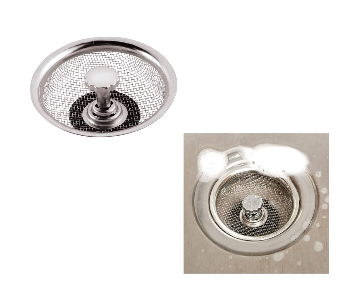 Kitchen Drain with Built in Stopper Cover 2 Pcs