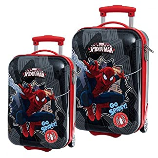 Set de 2 maleta trolley abs 48 x 55 cm Spiderman Marvel