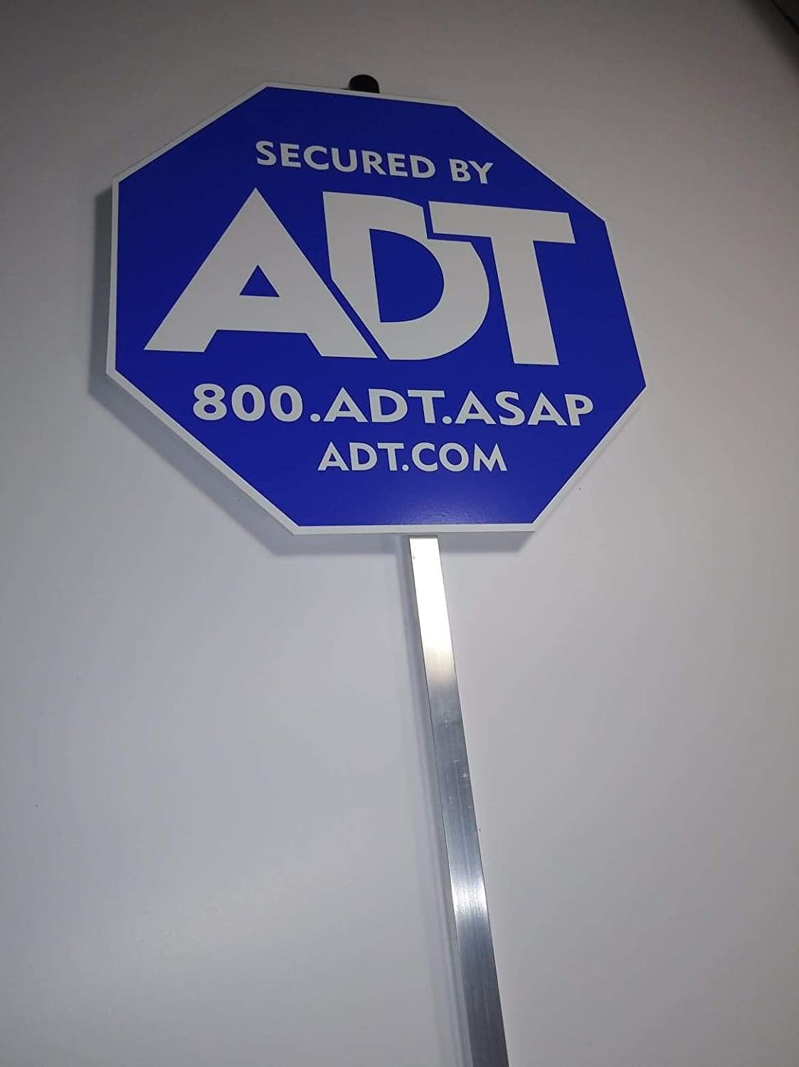 Security ADT Yard Signs 10 x 10 with Aluminum Post 36.