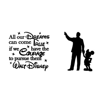 amazon walt disney inspired quote all our dreams can come true i